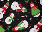 Christmas Snowmen Flannel Fabric Timeless Treasures, Fat Quarter, By the Yard