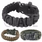 Paracord Survival Bracelet Wristband Survival Hiking Camping Fire Whistle