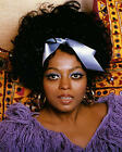 DIANA ROSS SILVER BOW IN HAIR PURPLE TOP PHOTO OR POSTER