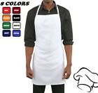 1 NEW SPUN POLY COOKING BAKING KITCHEN CHEFS RESTAURANT BIB APRONS HIGH QUALITY