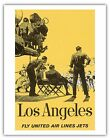 Los Angeles California Hollywood Vintage Airline Travel Art Poster Print Gicle