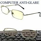 Computer READING Glasses ANTI-GLARE Metal Frame Guys & Gals SPRING TEMPLE Nice