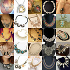 Hot Fashion Womens Jewelry Crystal Choker Chunky Statement Necklace NECK-04 Gift