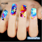 Nail Art Sticker Water Transfer Stickers Flower Decals Tips 3D Nail Decoration
