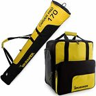 Yellow Black Ski Bag Combo for Ski Poles,  Boots and Helmet - Limited Edition -