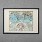 VINTAGE WORLD MAP - Professional Reproduction - Vintage Map Wall Art Map of the
