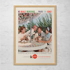 VINTAGE COKE AD - Classic Coca-Cola Ad, Mid Century Ad, Retro Kitchen Art $24.95  on eBay