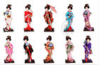 Chinese Handmade Raw Silk Figure Japanese Tradition Costume Geisha Doll Ornament