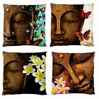 NEW~Buddha Butterfly/Frangipani Firm Smooth Feel DECOR CUSHION CASE~Image 2Sides