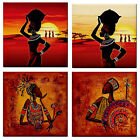 African Man/Woman Desert adies Ceramic Wall TILE/ Table COASTER/STAND~Mosiacs~
