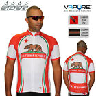 SPEG California Mens Short Sleeve Cycling Jersey Full Zipper 100% Vapore Fabric