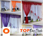 Amazing Voile Net Curtains with Colours Leaves Ready Made Living Dining Room New