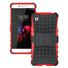 OnePlus X Dual Layer Shockproof Cover Hybrid Rugged Case with Kickstand