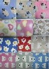 Anti -Pil cuddle Fleece Fabric soft warm per metre Patterned really soft & cosy