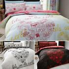 Duvet Cover with Pillowcase Quilt Cover Bedding Set Let See The World Print