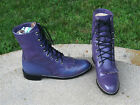 DIAMOND J COWGIRL LACER  BOOTS  LADIES  7.5'M