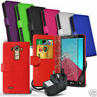 Leather Book Wallet Phone Case Cover✔Mains Charger✔Tempered Glass Screen Guard