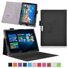Exact Pro Business Leather Wallet Tablet Case Cover for Microsoft Surface Pro 4
