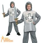 Child Knight Costume Boys Medieval Crusader Book Week Day Fancy Dress Outfit New