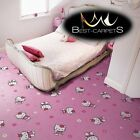CHILDREN'S CARPET DISNEY HELLO KITTY pink Kids Play Area Bedroom Rug ANY SIZE