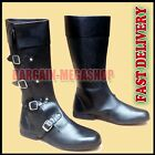 Medieval Style Long Shoes Black Color, Pure Leather Shoe Mens Boot Costume A1