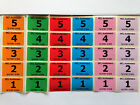 Personalised Auction Lot Number Labels,Orange, Green, Red, Blue, Pink, Lilac