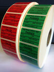 PAT Testing Passed Test Stickers Electrical Labels, Pass or Fail, PERSONALISED