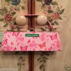 New Laura Ashley Purse Mini Clutch Pink Floral Pencil Pouch Case Brushes Cute!