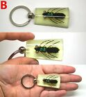Fly Fishing Keyring Fishing Fly with Fish Hooks in Resin Key Chain NEW