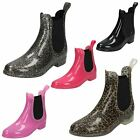 Girls Spot On Ankle Wellington Boots / Slip On / Synthetic