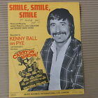 """song sheet SMILE SMILE SMILE Kenny Ball """"carry on london"""" 1973"""