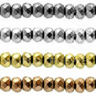 WORLD OF JEWEL | Filo Perline EMATITE Naturale Argentato Rondelle 3x2mm Forato