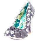 Irregular Choice Smartie Pants Womens Fabric Black Floral Heels New Shoes