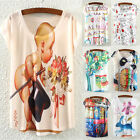 Women Ladies Short Sleeve T Shirts Blouse Top New Casual Loose Tee Tops
