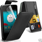 Top Flip Quality Leather Phone Case Cover✔Screen Protector for Vodafone