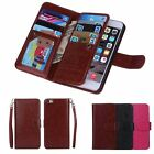 Wristlet Handbag Leather w/Card Slot Wallet Flip Case Cover For iPhone 6 6s Plus