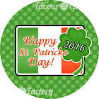 1x A4 sheet Personalised ST. PATRICKS DAY party bags sweet cones Flag STICKERS