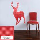 Vintage Shabby chic Stag Full Colour Wall Art Sticker Red Polka Dot PS11