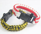 WristbandS Outdoor Camping Survival Strap Lifesaving Bracelet Lock Whistle 1 PCS