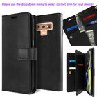 For Samsung Galaxy S9 S8 Plus / Note 9 Dual Shockproof Flip Wallet leather Case
