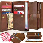 For Samsung Galaxy Note 8 S9 S8 Dual Shockproof Flip Wallet leather Case Cover