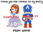 PERSONALISED PRINCESS & SUPERHERO Stickers for Sweet Cones/Party Bags etc 02 -23