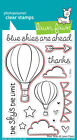 Blue Skies - Clear Stamps OR Craft Dies -Lawn Fawn LF511 LF519 - Hot Air Balloon