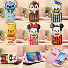 Disney Cartoon Hidden Magnet Leather Wallet Case Cover For Samsung Galaxy S6