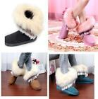 New Fashion Womens Warm Winter Faux  Fur Furry Snow Boots Flat Heels shoes