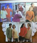 Fancy Patterned Knitting Adult Design 8 Ply Aotea&Kaiapoi MultiList 5Booklets S5