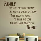 Family Ties - Large Vinyl Wall Quote / Home Wall Decal / Big Vinyl Quote QU36