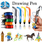 NEW 3D Printing Pen Stereoscopic Drawing Arts Crafts+ 3 Free ABS Filaments Gift
