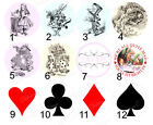 Alice in Wonderland Queen Hearts Mad Hatter Icing Wafer Precut Cupcake Toppers