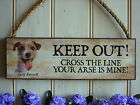 JACK RUSSELL SIGN WARNING SIGN DOG SIGN GATE SIGN GARDEN PLAQUE UNIQUE DOG GIFT